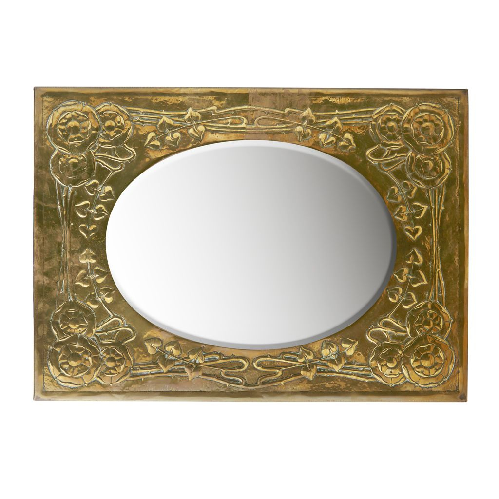 Attributed To Marion Henderson Wilson Brass Embossed Wall With Marion Wall Mirrors (View 13 of 20)