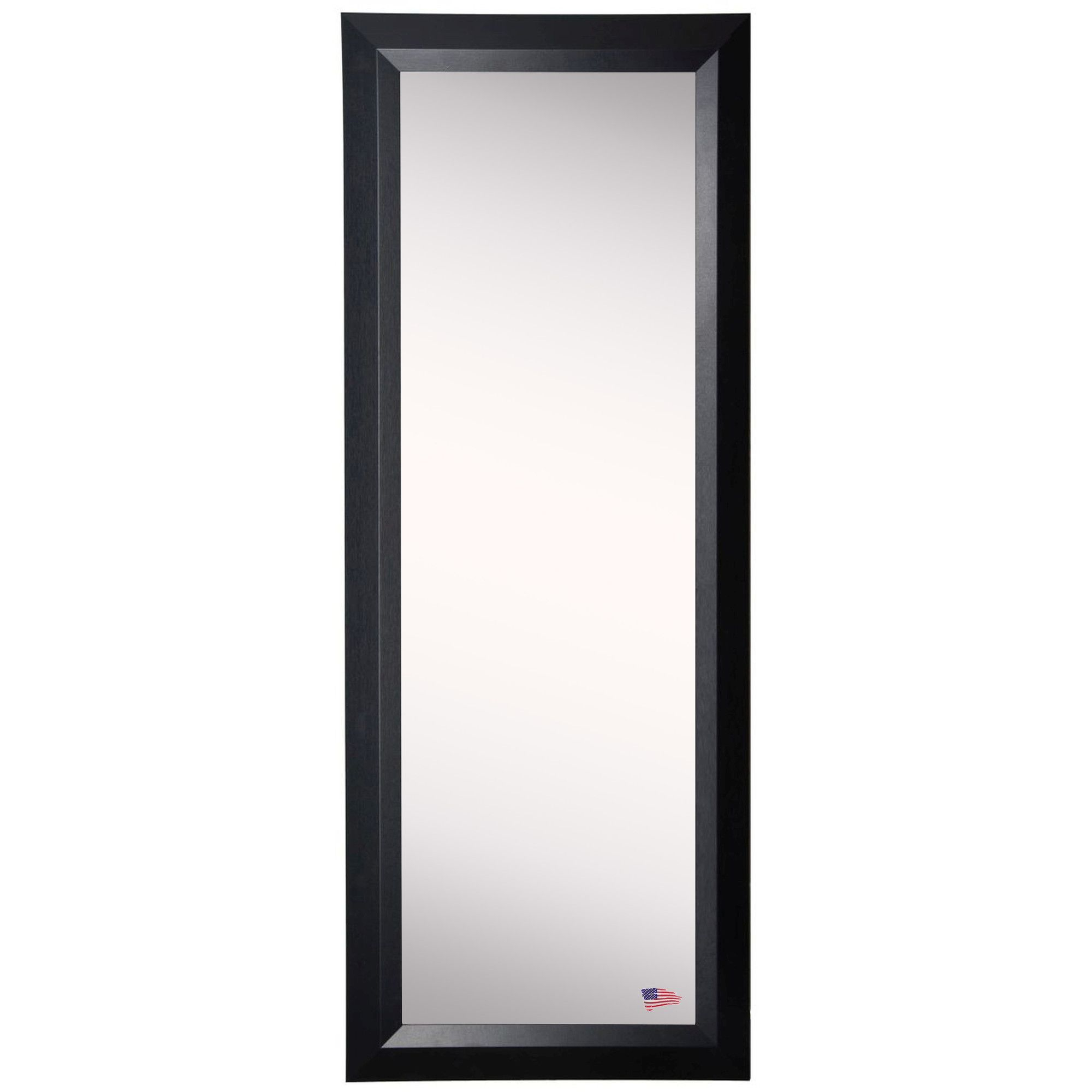 Ava Popular Black Slant Full Length Body Mirror | Products In Dalessio Wide Tall Full Length Mirrors (Image 2 of 20)