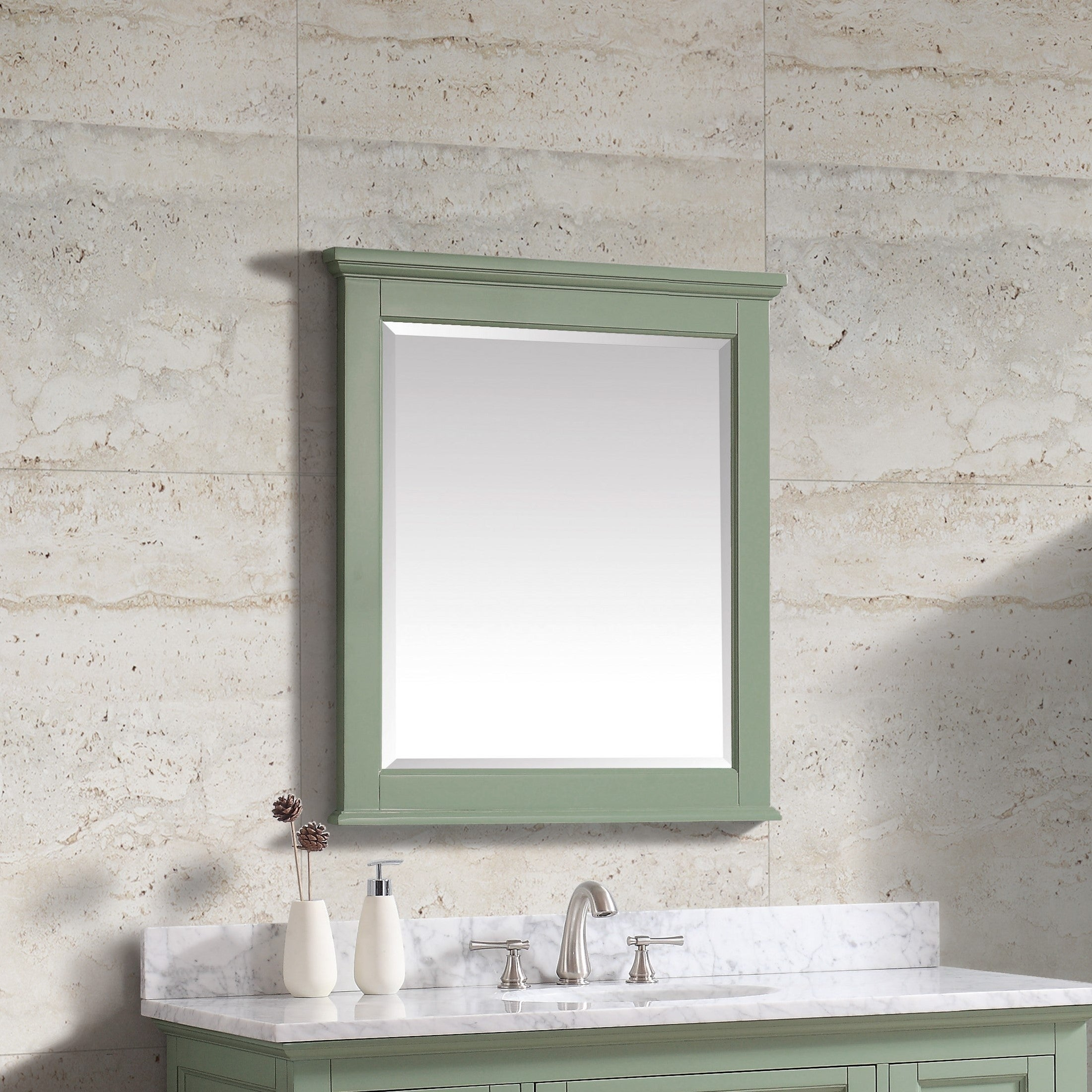 "Avanity Colton 28 In. Wall Mirror – Basil Green – Basil Green – 28""w X 32""h With Regard To Colton Modern & Contemporary Wall Mirrors (Photo 19 of 20)"