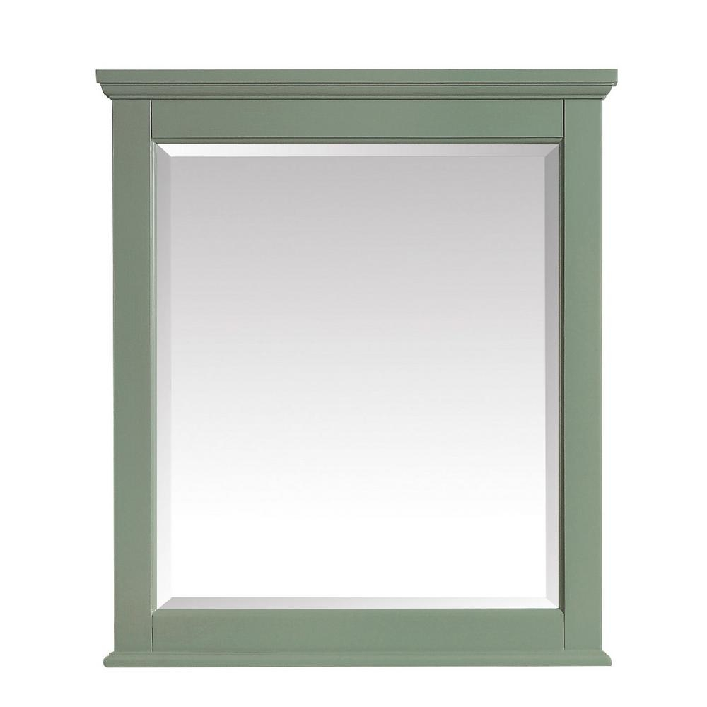 Avanity Colton 28 In. X 32 In. Framed Wall Mirror In Basil Green In Colton Modern & Contemporary Wall Mirrors (Photo 12 of 20)