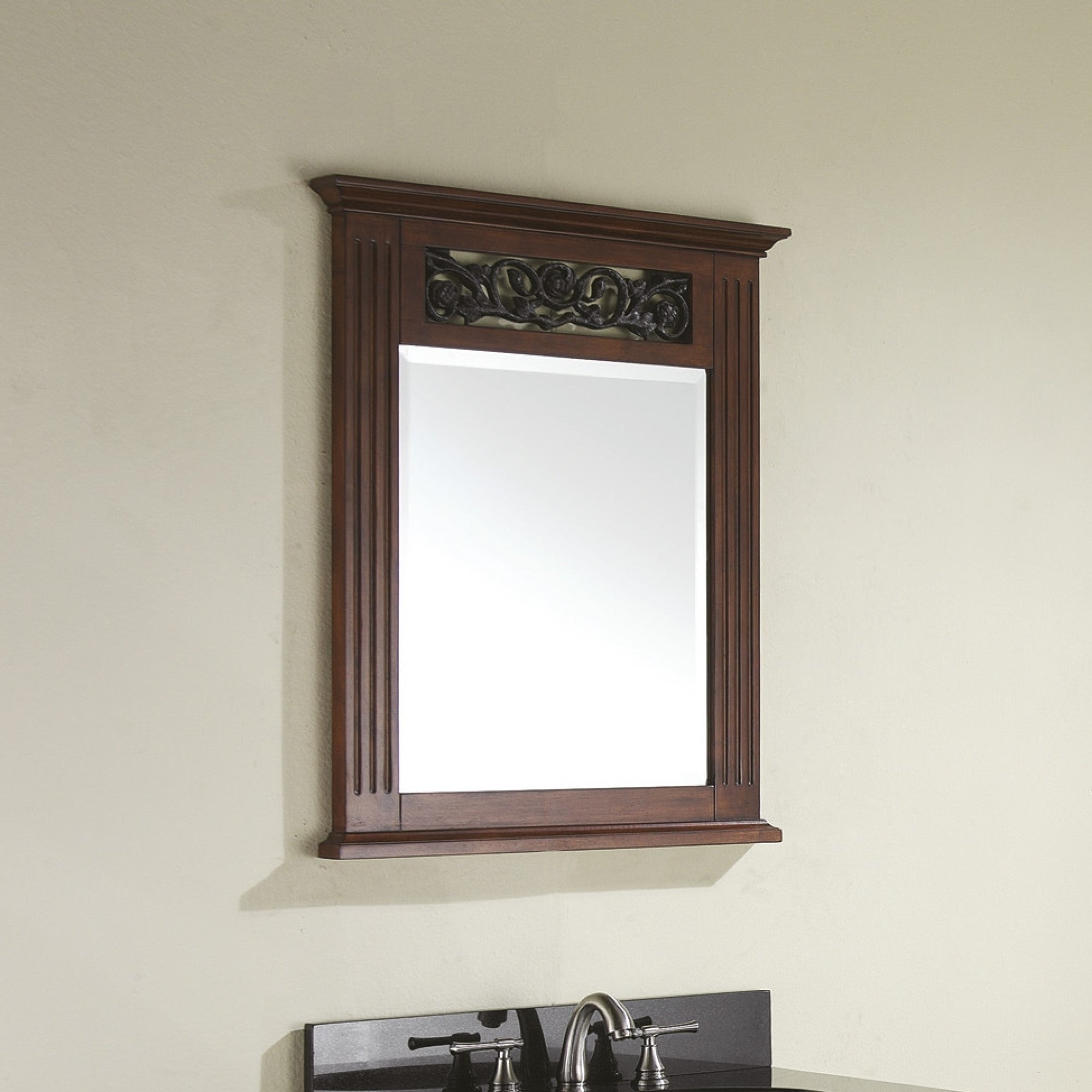 "Avanity Napa 24 In. Wall Mirror – Dark Cherry – Dark Cherry – 25""w X  (Image 1 of 20)"