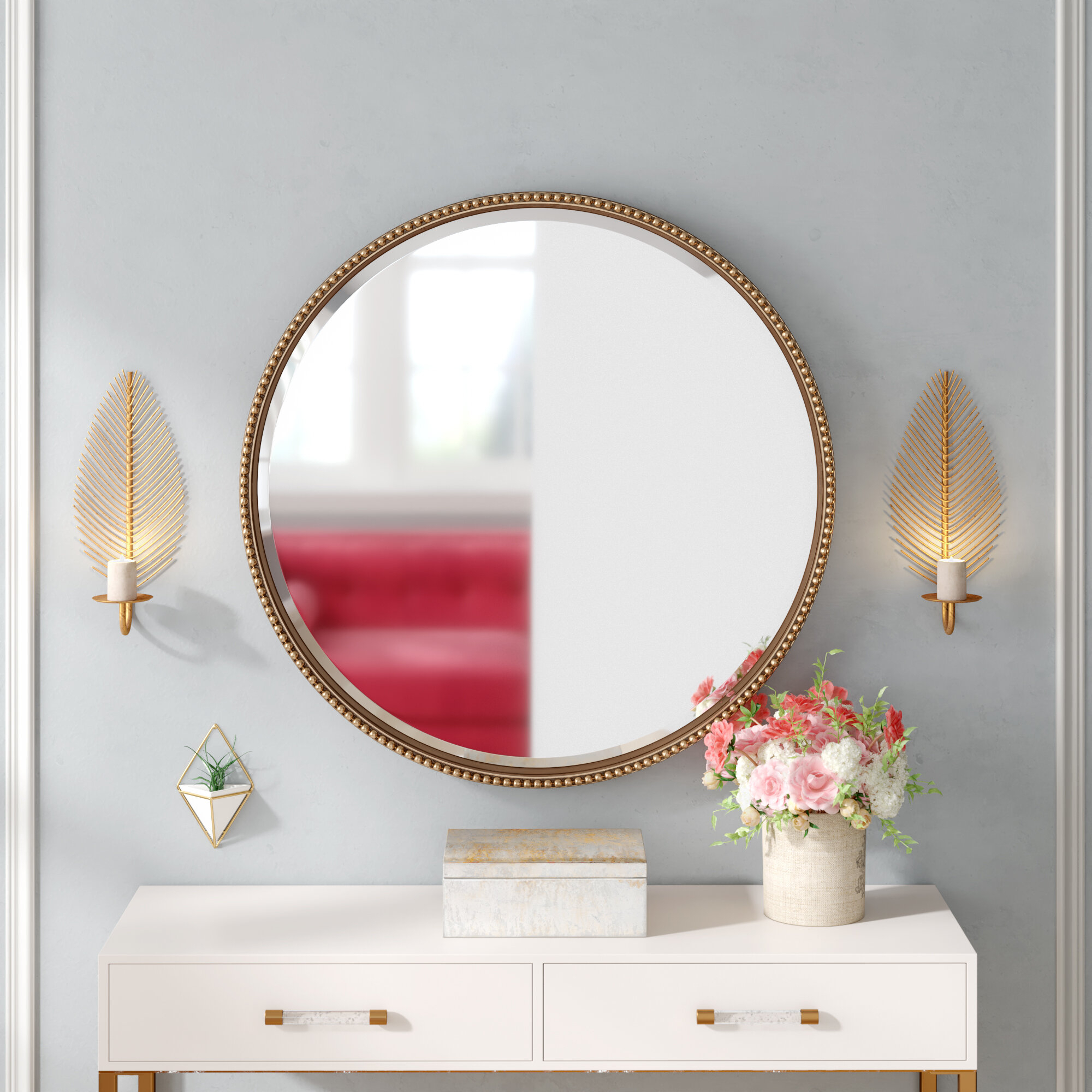 Bain Accent Mirror Intended For Mahanoy Modern And Contemporary Distressed Accent Mirrors (Image 2 of 20)