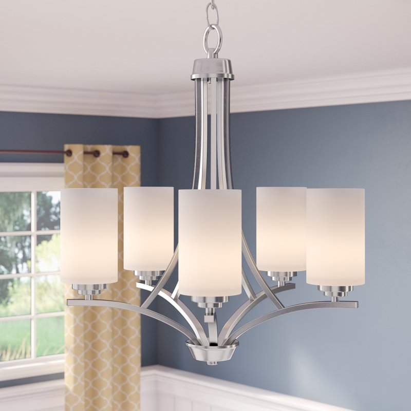 Bainsby 5 Light Shaded Chandelier For Hayden 5 Light Shaded Chandeliers (Image 2 of 20)