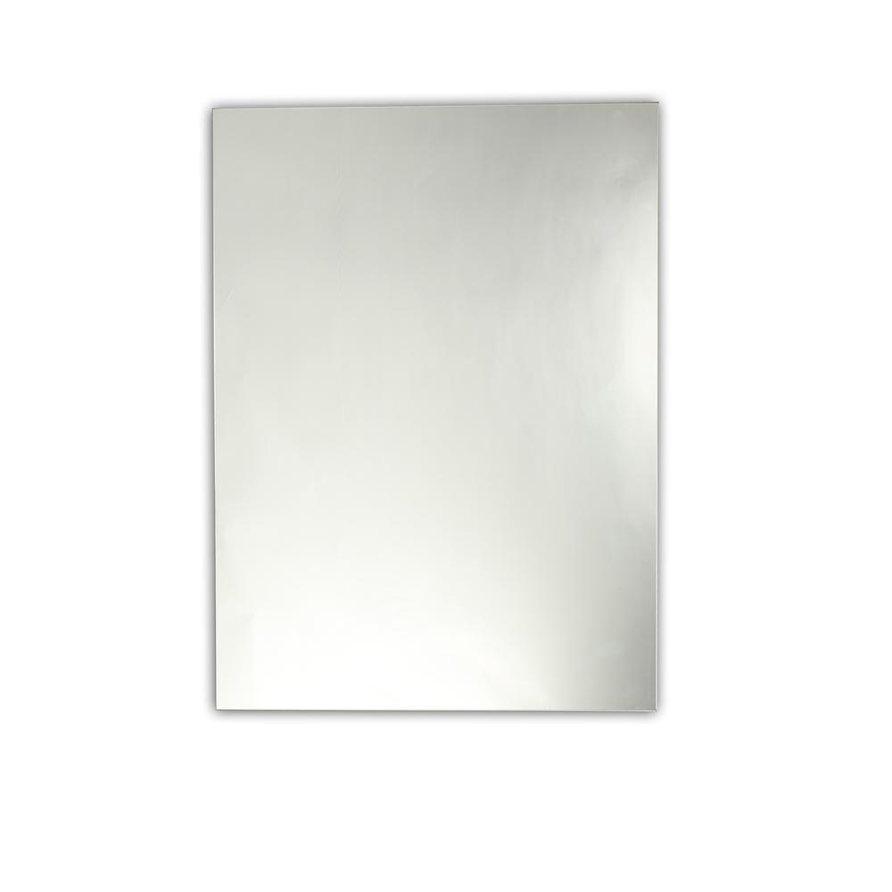 Baldwin Large Frameless Wall Mirror 28X35Chloe Lighting With Regard To Lidya Frameless Beveled Wall Mirrors (View 17 of 20)