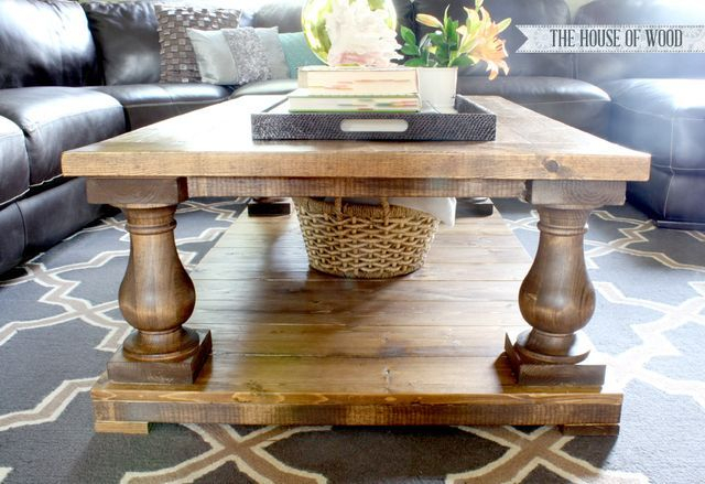 Balustrade Coffee Table (Ana White) | Diy | Diy Coffee Table Throughout Jessa Rustic Country 54 Inch Coffee Tables (Image 5 of 25)