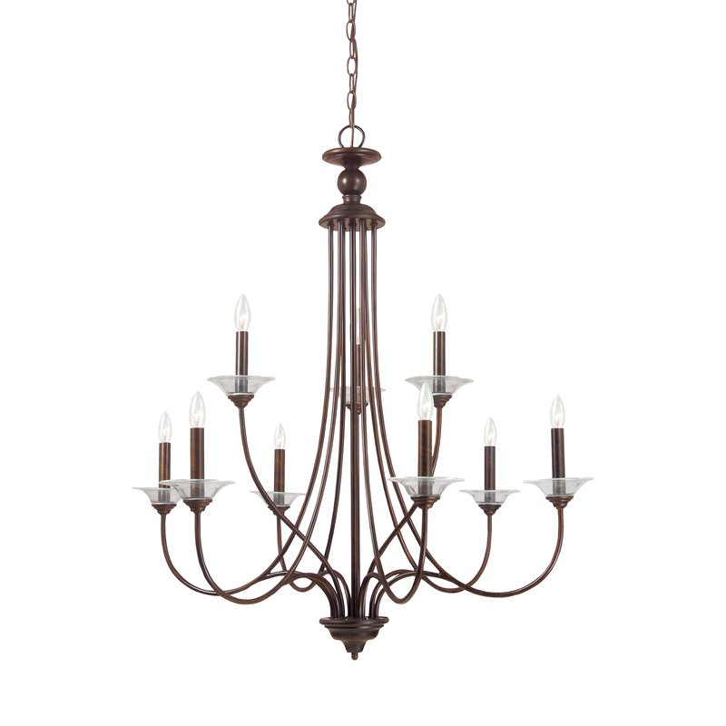Barbro 9 Light Chandelier With Regard To Berger 5 Light Candle Style Chandeliers (View 18 of 20)