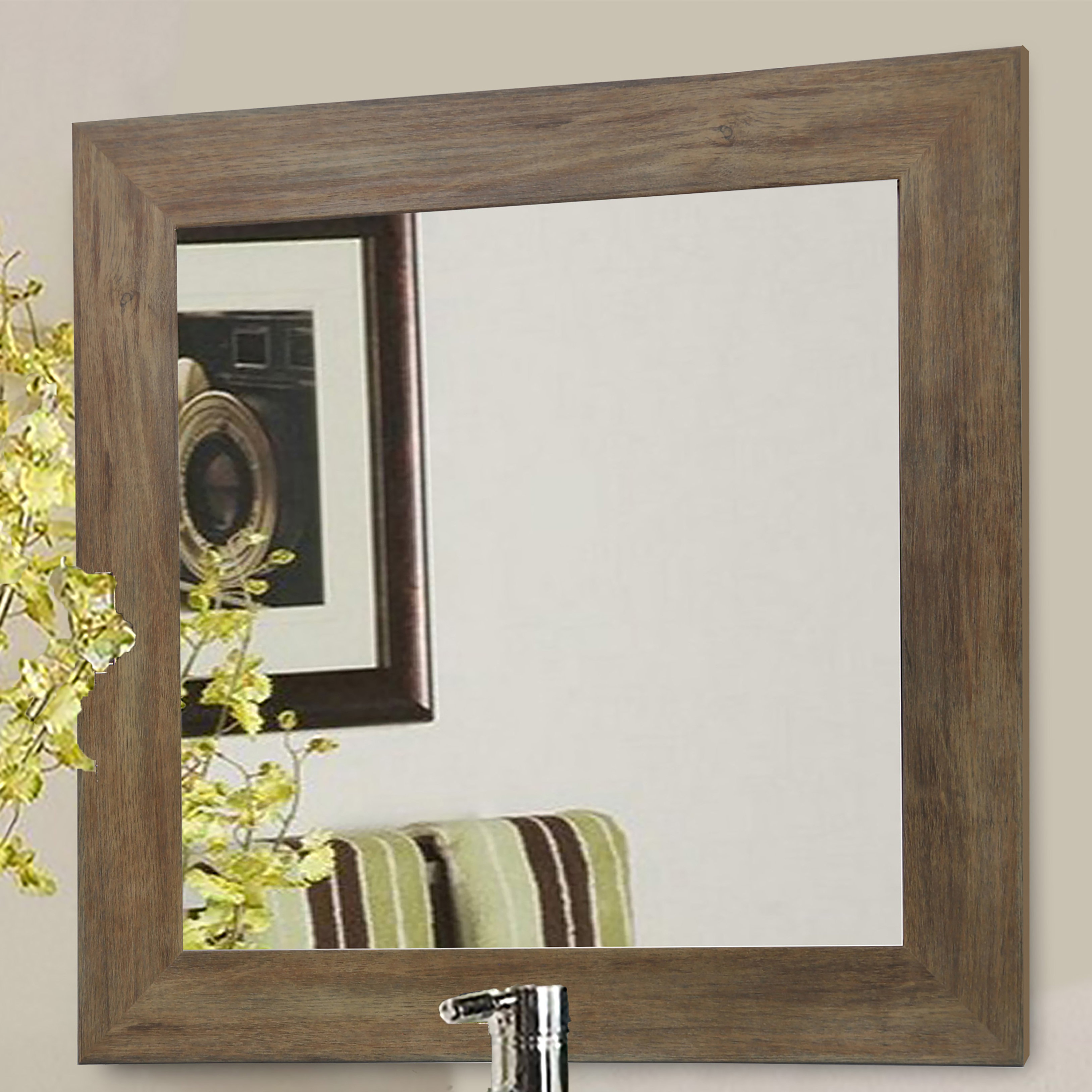 Barnwood Wall Accent Mirror Intended For Berinhard Accent Mirrors (View 3 of 20)