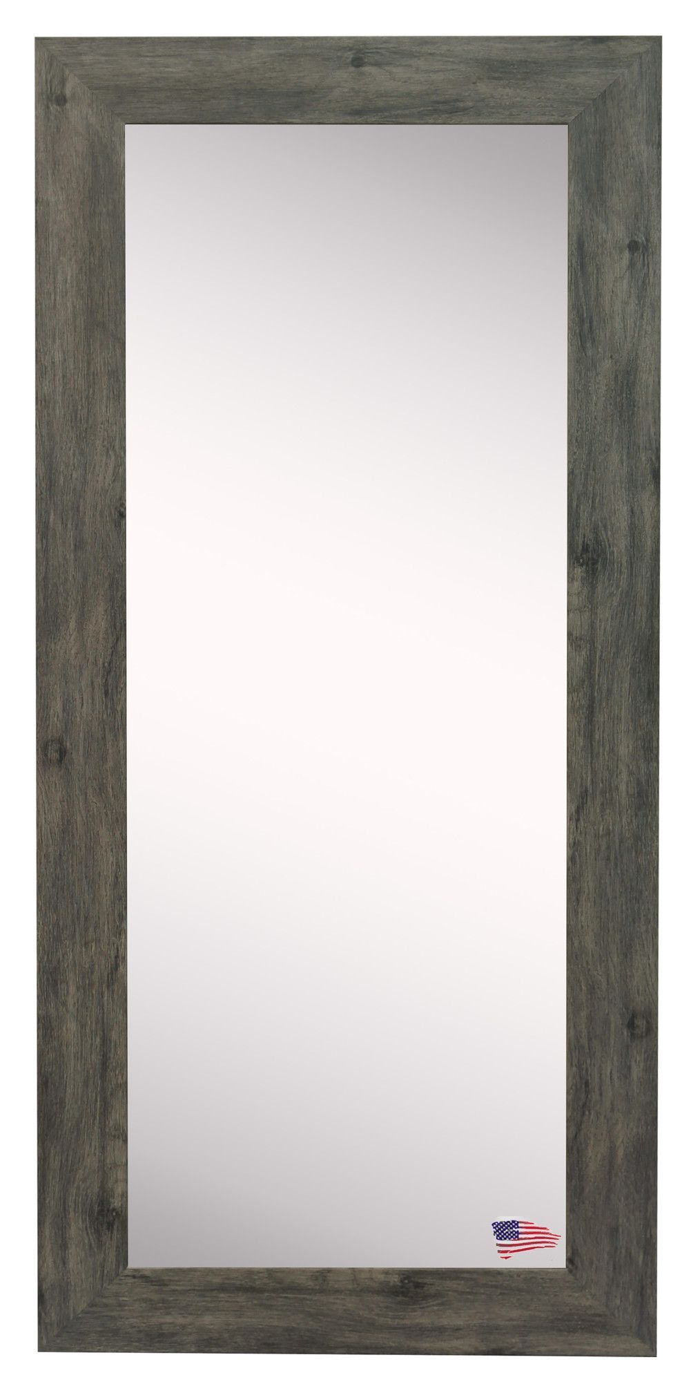 Barnwood Wall Mirror | Vision Board Ideas | Body Mirror Inside Dalessio Wide Tall Full Length Mirrors (Image 3 of 20)