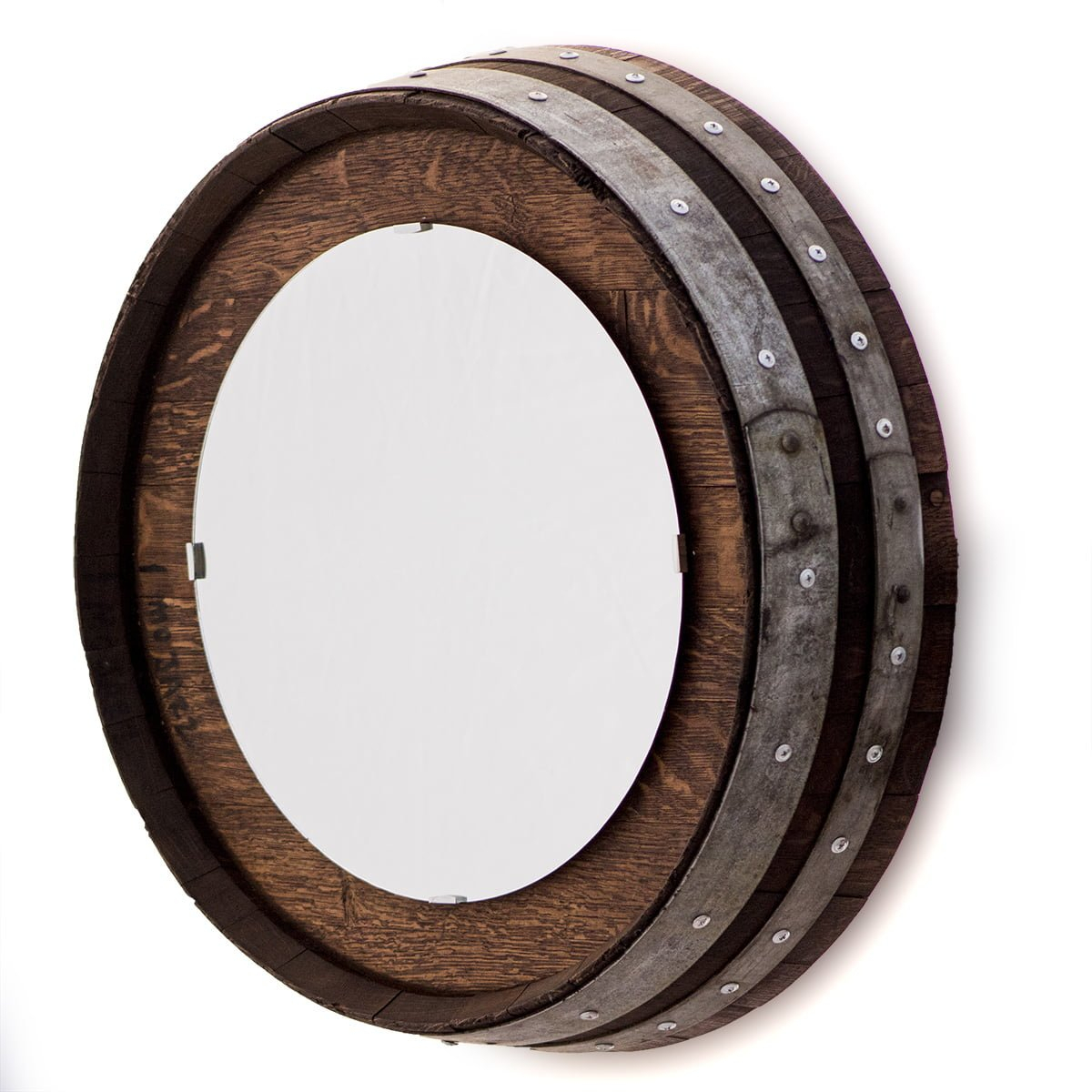 Barrel End Wall Mirror With Staves For Bem Decorative Wall Mirrors (View 12 of 20)