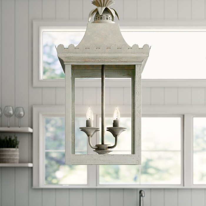 Baucom 4 Light Lantern Square / Rectangle Pendant With Destrey 3 Light Lantern Square/rectangle Pendants (View 13 of 20)