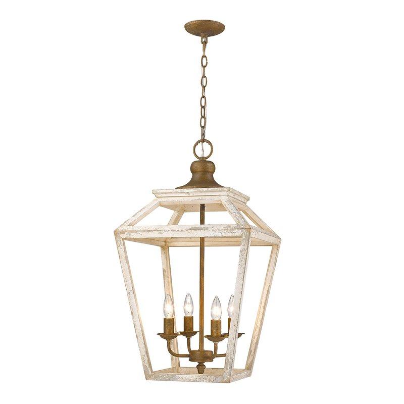 Baugher 4 Light Lantern Geometric Pendant For Varnum 4 Light Lantern Pendants (Image 2 of 20)