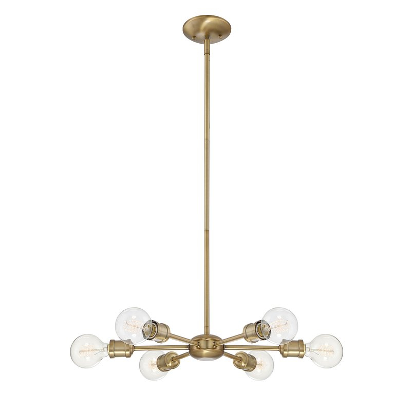 Featured Image of Bautista 6 Light Sputnik Chandeliers