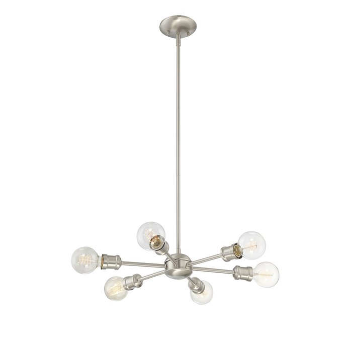 Bautista 6 Light Sputnik Chandelier With Bautista 6 Light Sputnik Chandeliers (View 8 of 20)