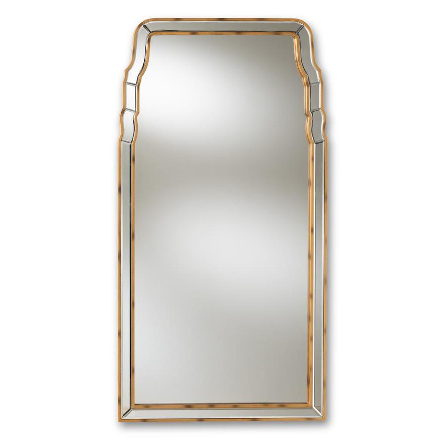 Baxton Studio Alice 50 In L X 26 In W Arch Gold Framed Wall Throughout Gold Arch Wall Mirrors (View 19 of 20)