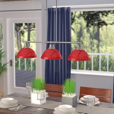 Beachcrest Home Bodalla 3 Light Kitchen Island Pendant Intended For Dunson 3 Light Kitchen Island Pendants (View 8 of 25)
