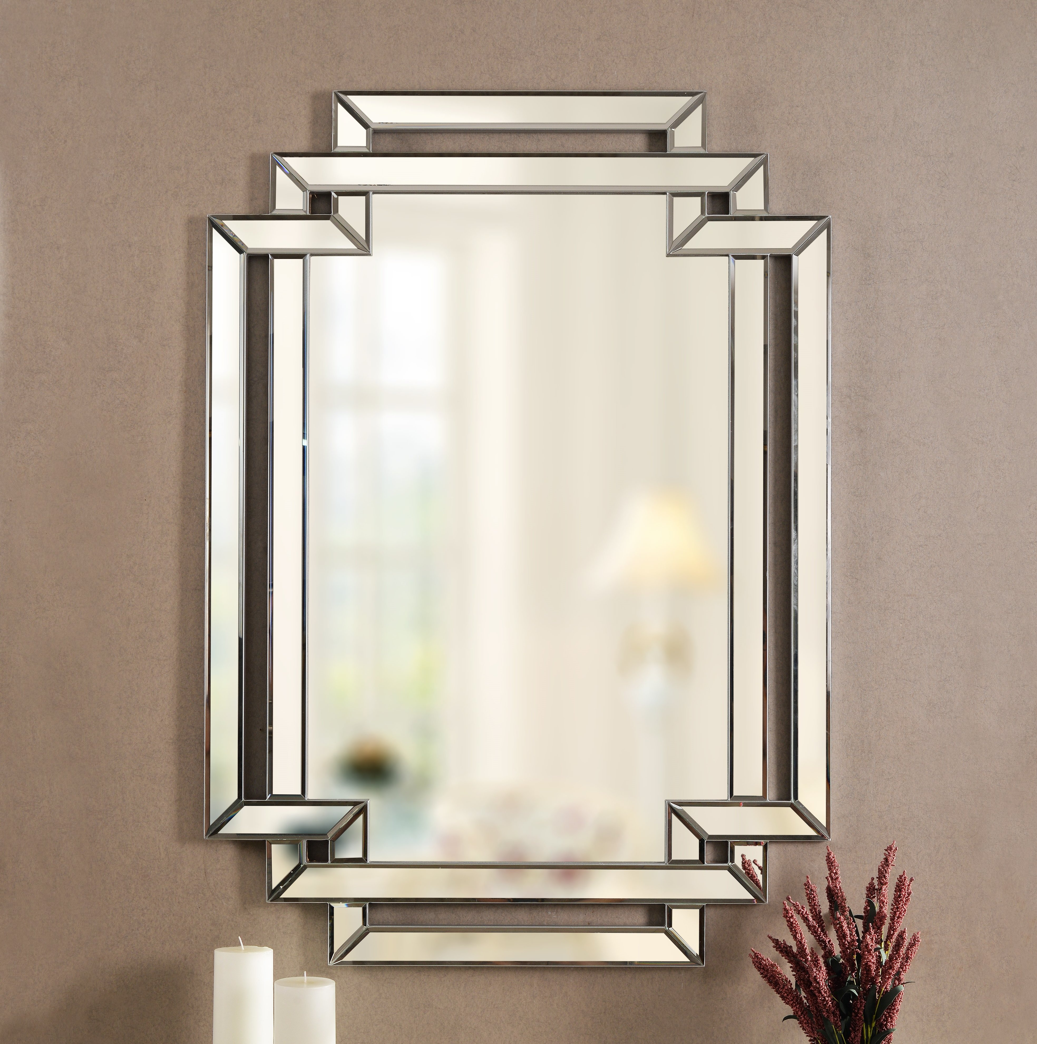 Beaded Beveled Mirror | Wayfair Intended For Tutuala Traditional Beveled Accent Mirrors (View 16 of 20)