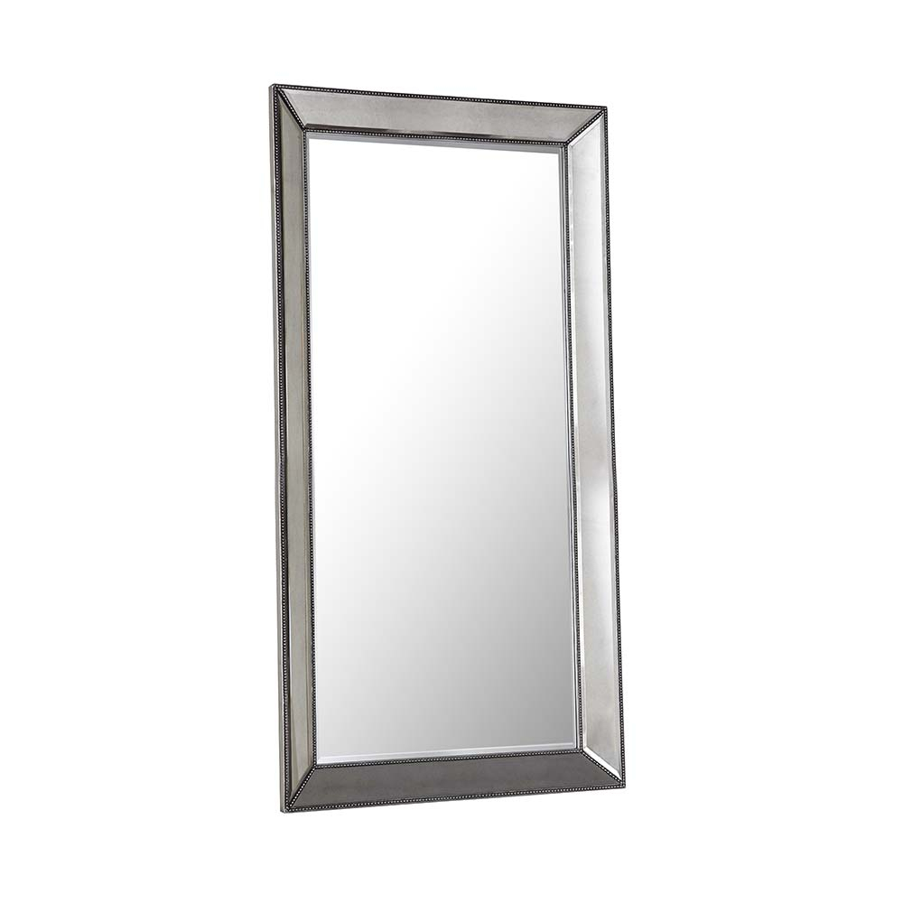 Beaded Leaner Mirror – Metallic Finish In Beaded Accent Wall Mirrors (View 9 of 20)