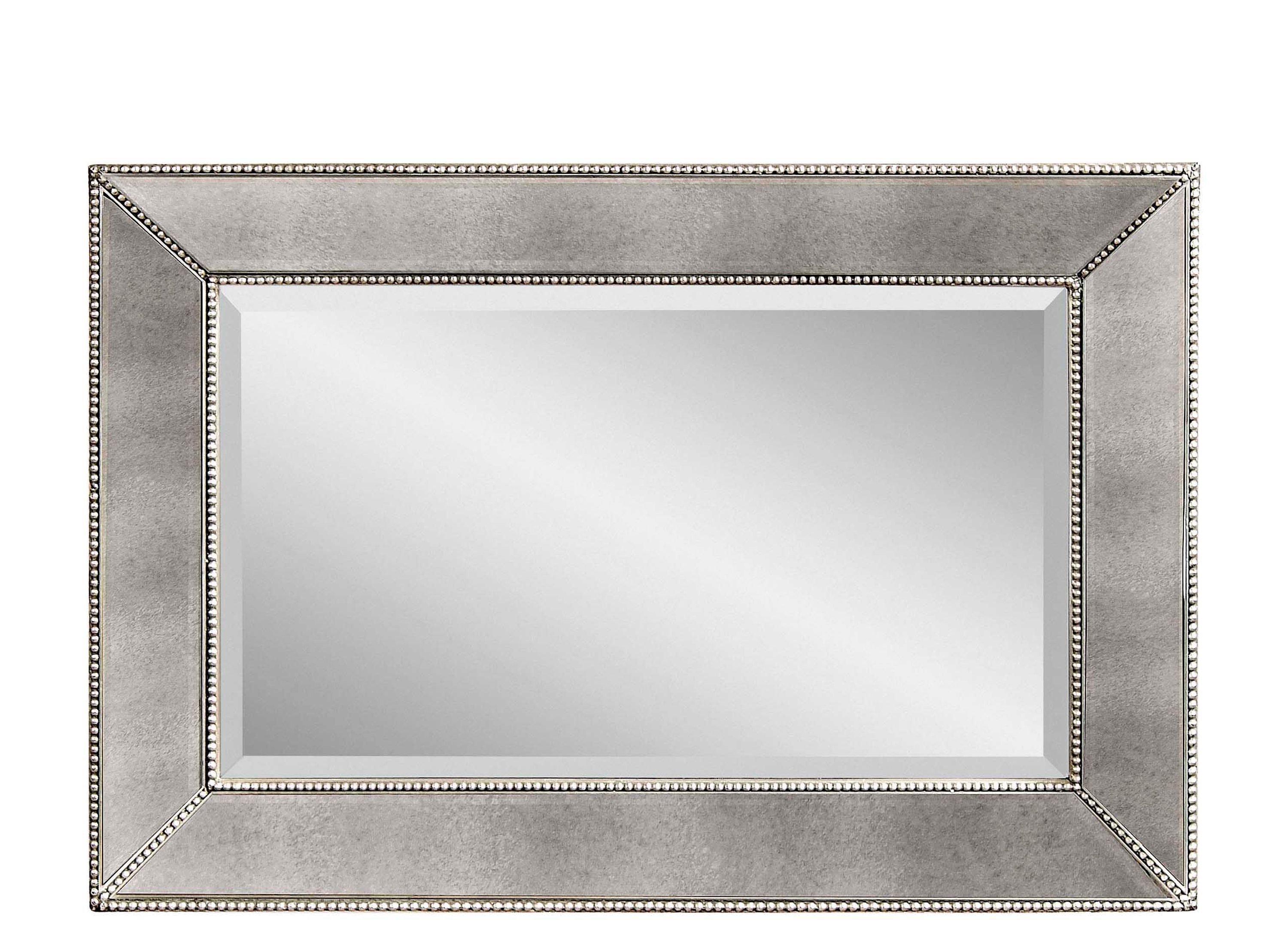 Beaded Wall Mirror | With An Antiqued Silver Finish And With Regard To Beaded Accent Wall Mirrors (View 10 of 20)