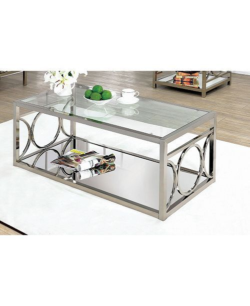 Beller Coffee Table, Quick Ship – Silver | My Future Home In Throughout Furniture Of America Tellarie Contemporary Chrome Coffee Tables (View 8 of 25)