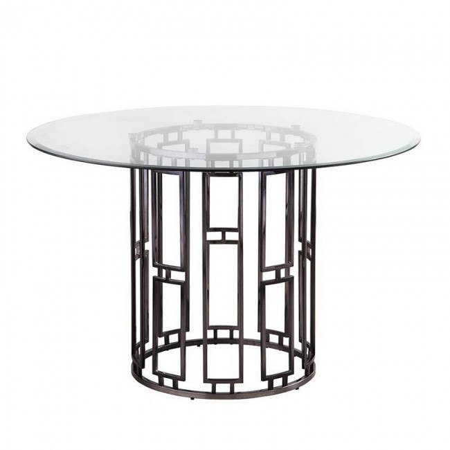 Bells Dining Table In Coaster Company Silver Glass Coffee Tables (Image 7 of 25)