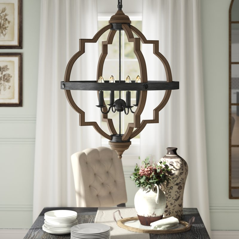 Bennington 4 Light Candle Style Chandelier For Hesse 5 Light Candle Style Chandeliers (Image 6 of 20)