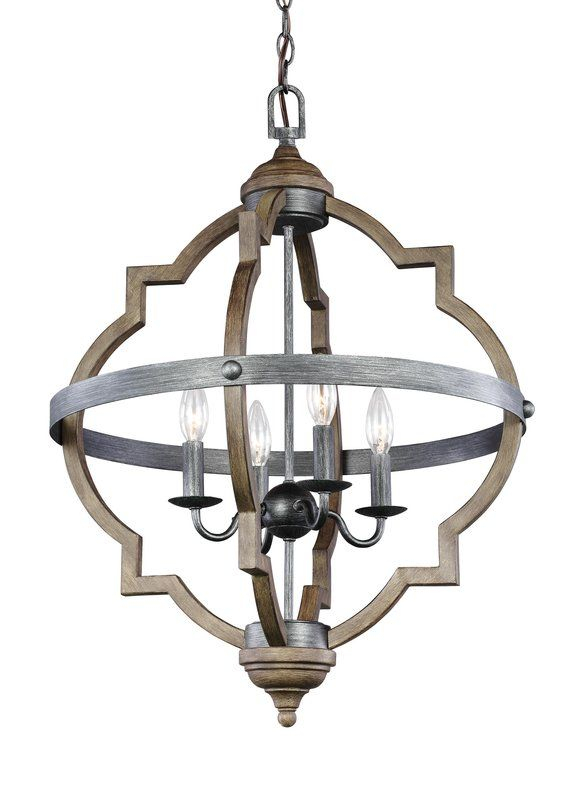 Bennington 4 Light Candle Style Chandelier In 2019 | Client For Bennington 4 Light Candle Style Chandeliers (View 8 of 20)
