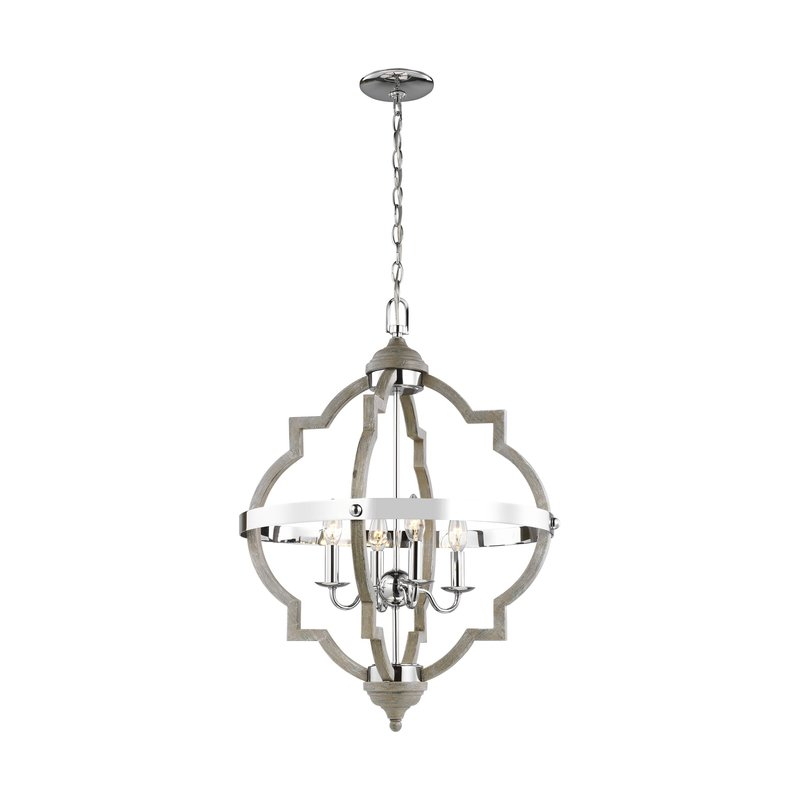 Bennington 4 Light Candle Style Chandelier Pertaining To Bennington 4 Light Candle Style Chandeliers (View 3 of 20)