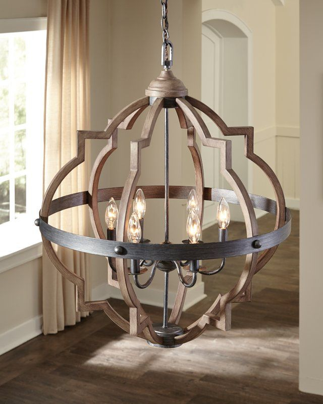 Bennington 6 Light Candle Style Chandelier | Gallery/foyer With Regard To Bennington 4 Light Candle Style Chandeliers (View 13 of 20)