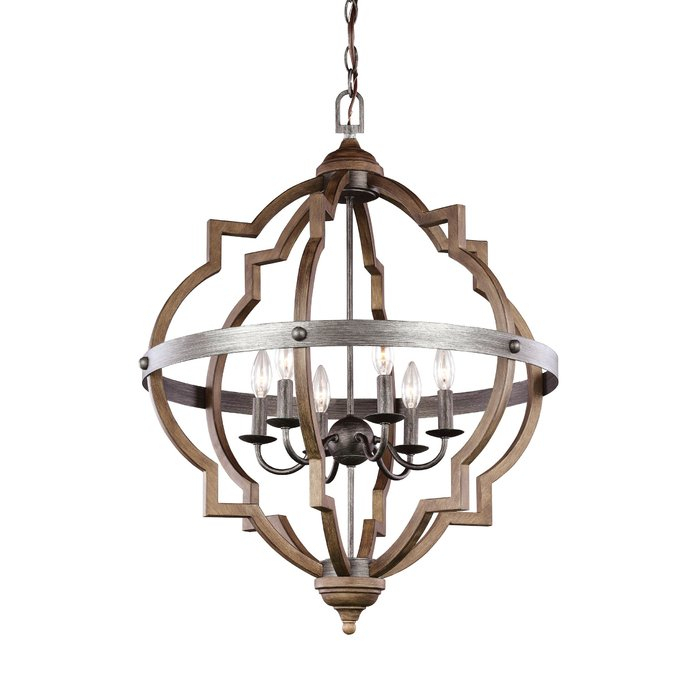 Bennington 6 Light Candle Style Chandelier With Regard To Bennington 4 Light Candle Style Chandeliers (View 7 of 20)