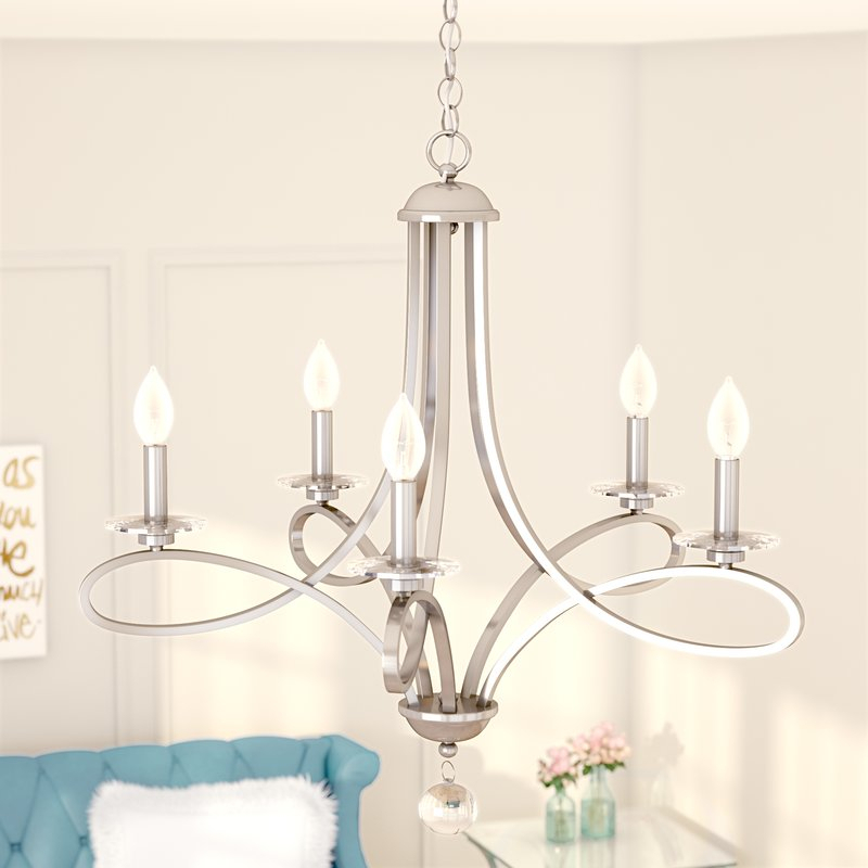 Featured Image of Berger 5 Light Candle Style Chandeliers