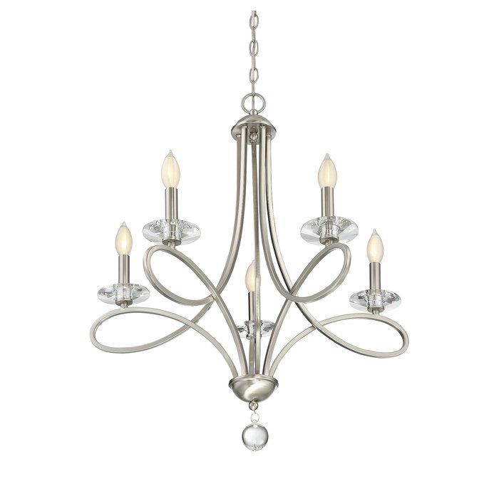 Berger 5 Light Candle Style Chandelier & Reviews | Joss In Berger 5 Light Candle Style Chandeliers (View 4 of 20)
