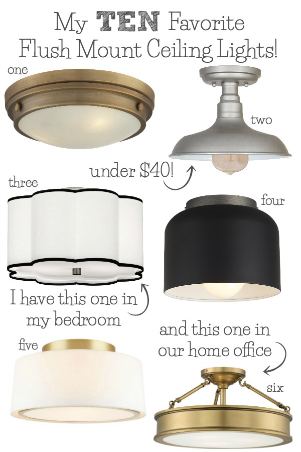 Best Flush Mount Ceiling Lighting – My 10 Faves From In Emaria 3 Light Single Drum Pendants (Image 3 of 25)