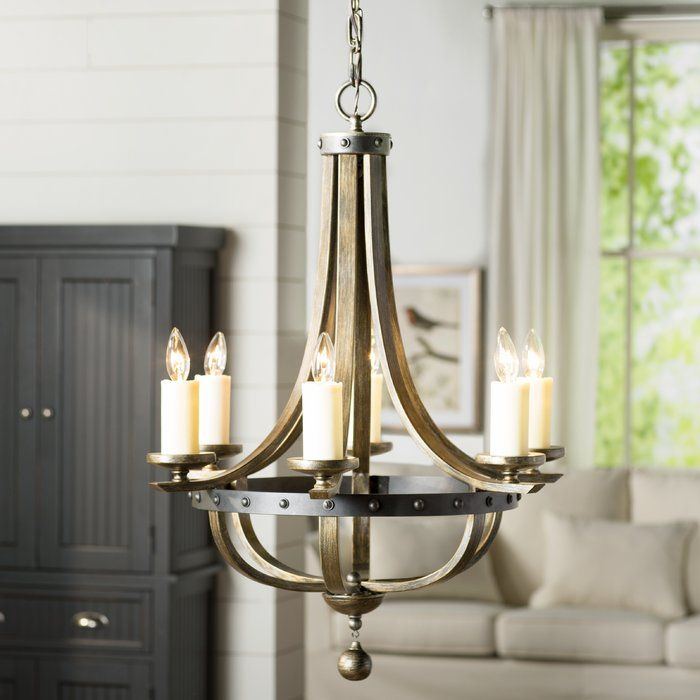 Betty Jo 6 Light Empire Chandelier | A Kitchen Remodel For Bouchette Traditional 6 Light Candle Style Chandeliers (View 12 of 20)