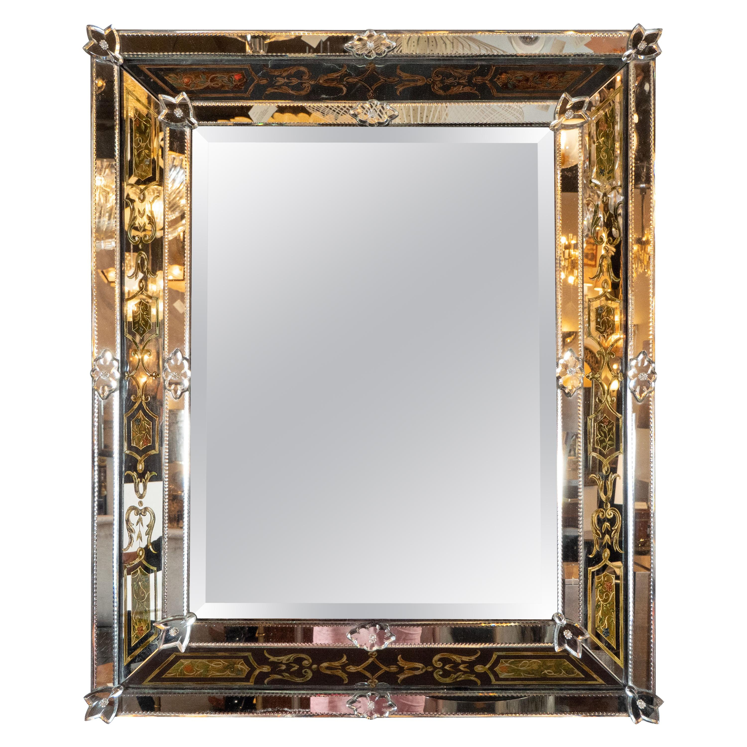 Beveled Mirror Panels – 124 For Sale On 1Stdibs Regarding Modern & Contemporary Beveled Overmantel Mirrors (View 16 of 20)