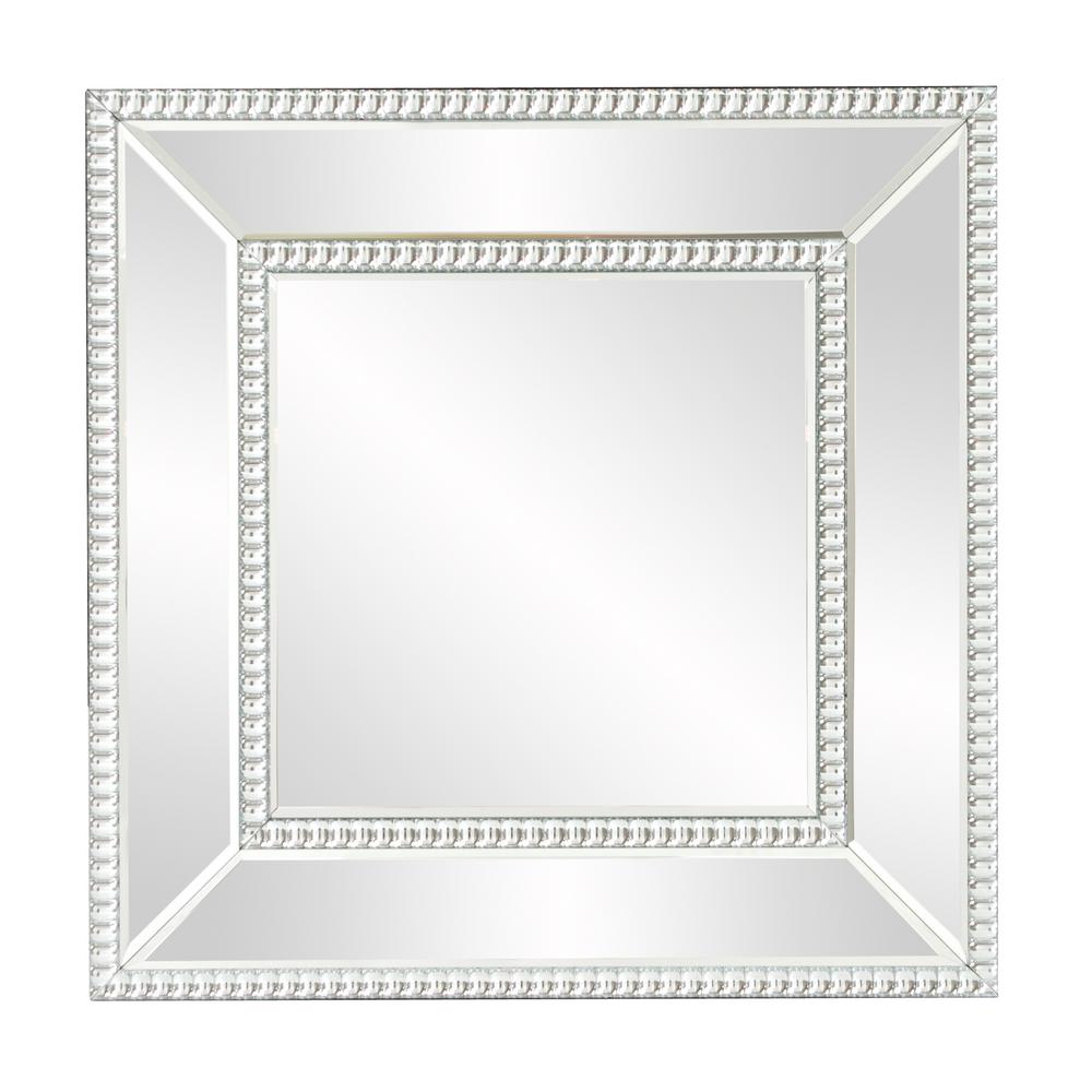Bijou Square Mirror 99173 – The Home Depot For Lidya Frameless Beveled Wall Mirrors (Image 8 of 20)