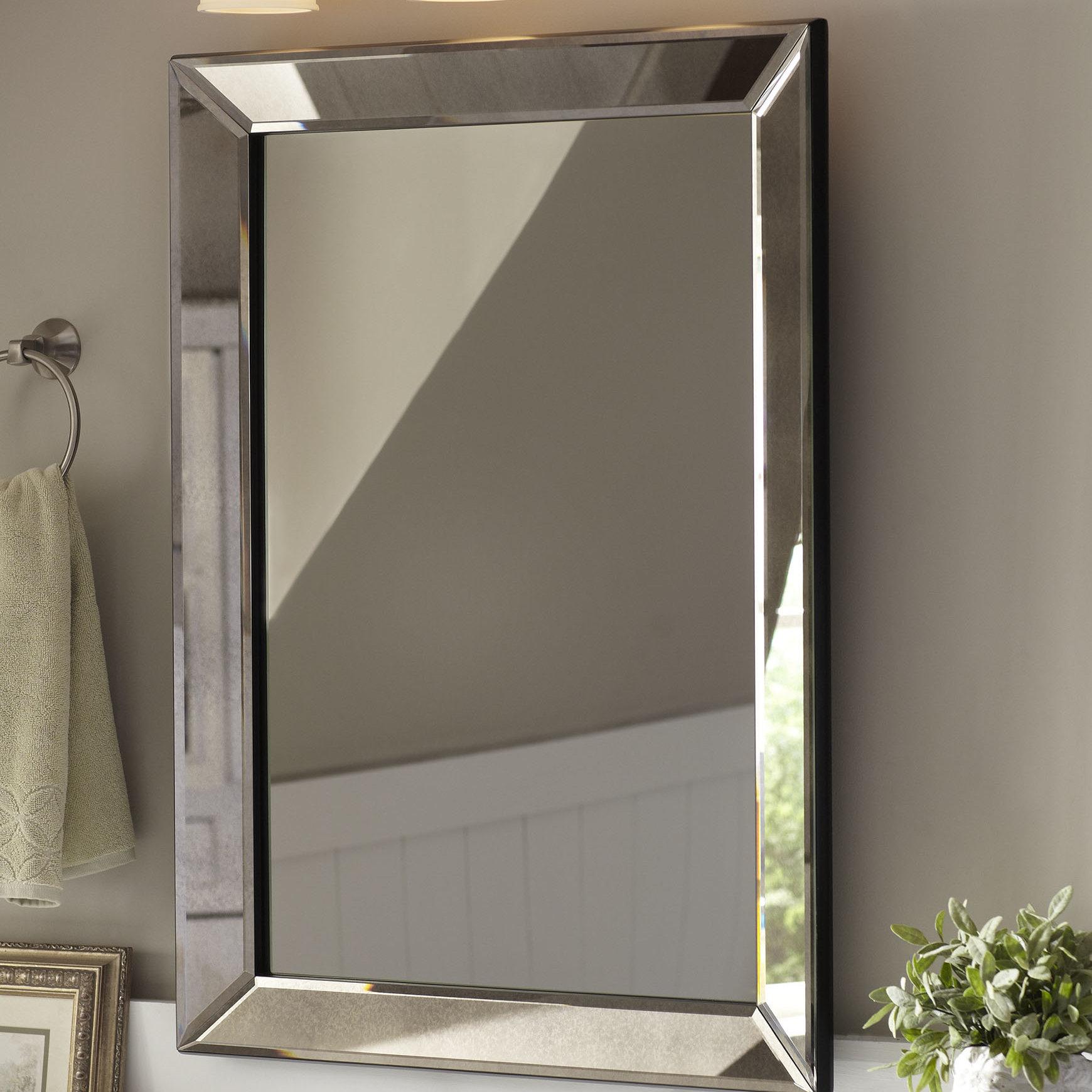 Birch Lane™ Heritage Ansgar Accent Mirror Regarding 2 Piece Priscilla Square Traditional Beveled Distressed Accent Mirror Sets (View 11 of 20)