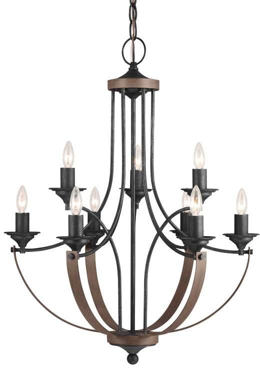 Birch Lane Heritage Camilla 9 Light Candle Style Chandelier With Camilla 9 Light Candle Style Chandeliers (View 11 of 20)