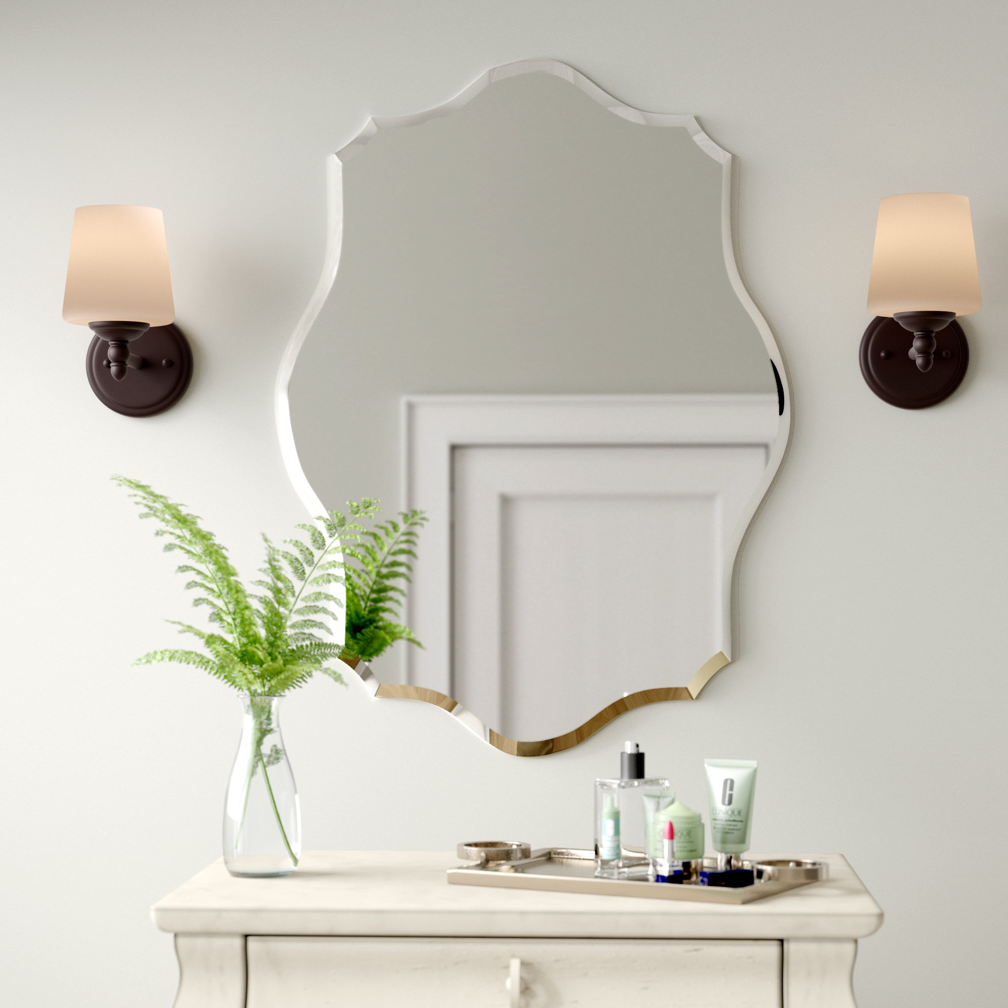 Birch Lane™ Heritage Guidinha Modern & Contemporary Accent Mirror With Menachem Modern & Contemporary Accent Mirrors (View 9 of 20)