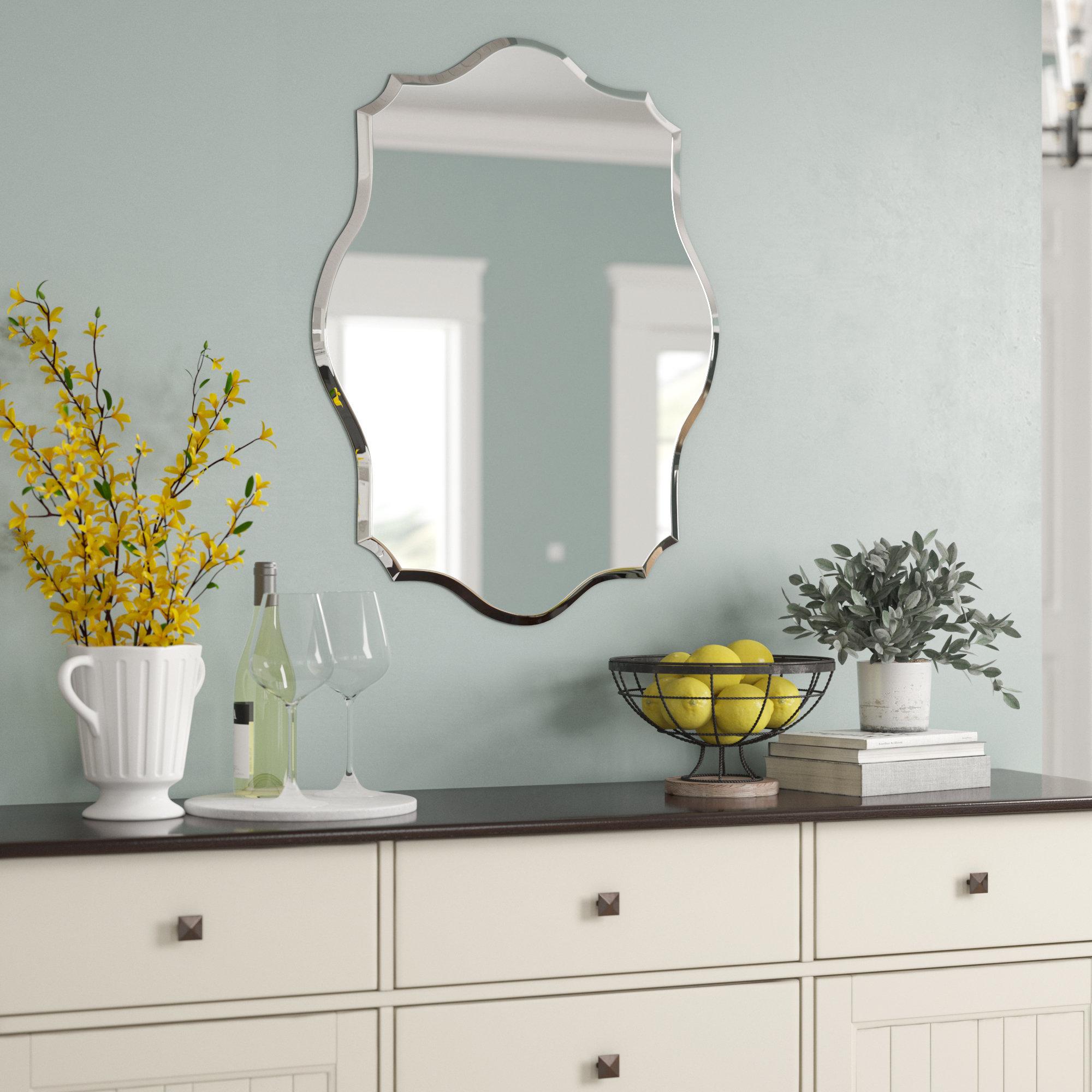 Birch Lane™ Heritage Guidinha Modern & Contemporary Accent With Regard To Estefania Frameless Wall Mirrors (View 12 of 20)