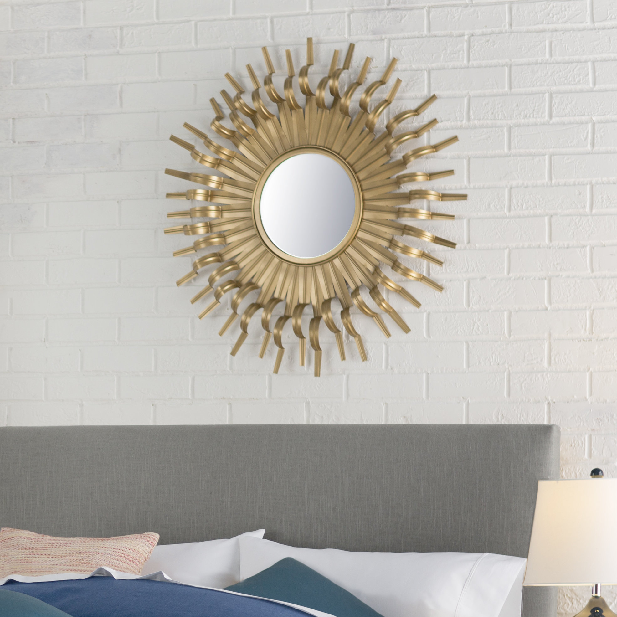 Birksgate Accent Mirror In Josephson Starburst Glam Beveled Accent Wall Mirrors (Image 2 of 20)