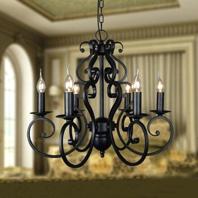 Black Candle Chandelier – Donnetteangers (Image 2 of 20)