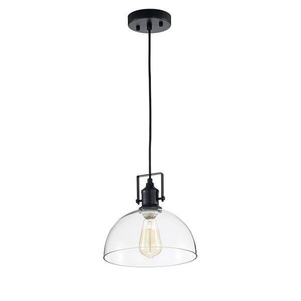 Black Farmhouse Lighting | Wayfair Regarding Adriana Black 1 Light Single Dome Pendants (Image 11 of 25)