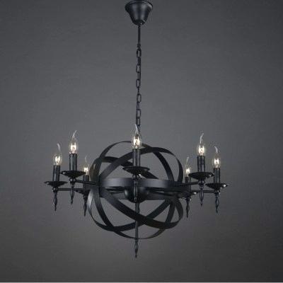 Black Globe Chandelier – Aftermidnight (View 20 of 20)