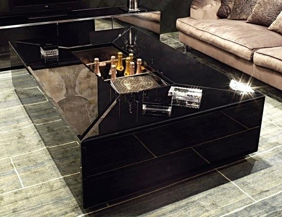 Black Modern Coffee Table Regarding Safavieh Mid Century Wynton White Black Lacquer Modern Coffee Tables (Image 7 of 25)