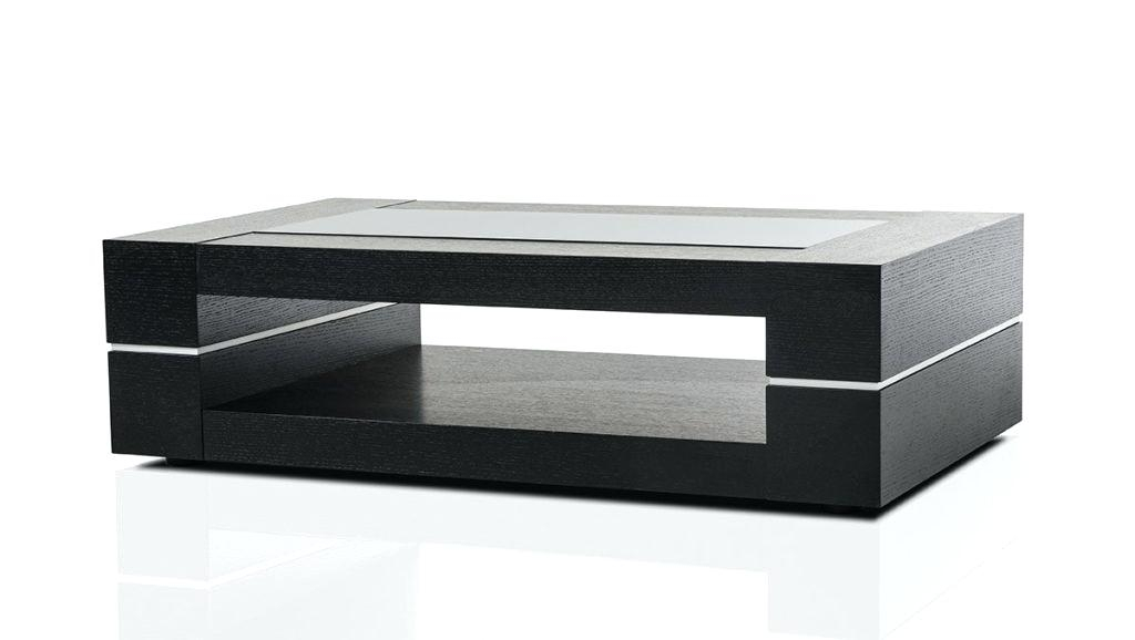 Black Modern Coffee Table With Regard To Safavieh Mid Century Wynton White Black Lacquer Modern Coffee Tables (View 22 of 25)