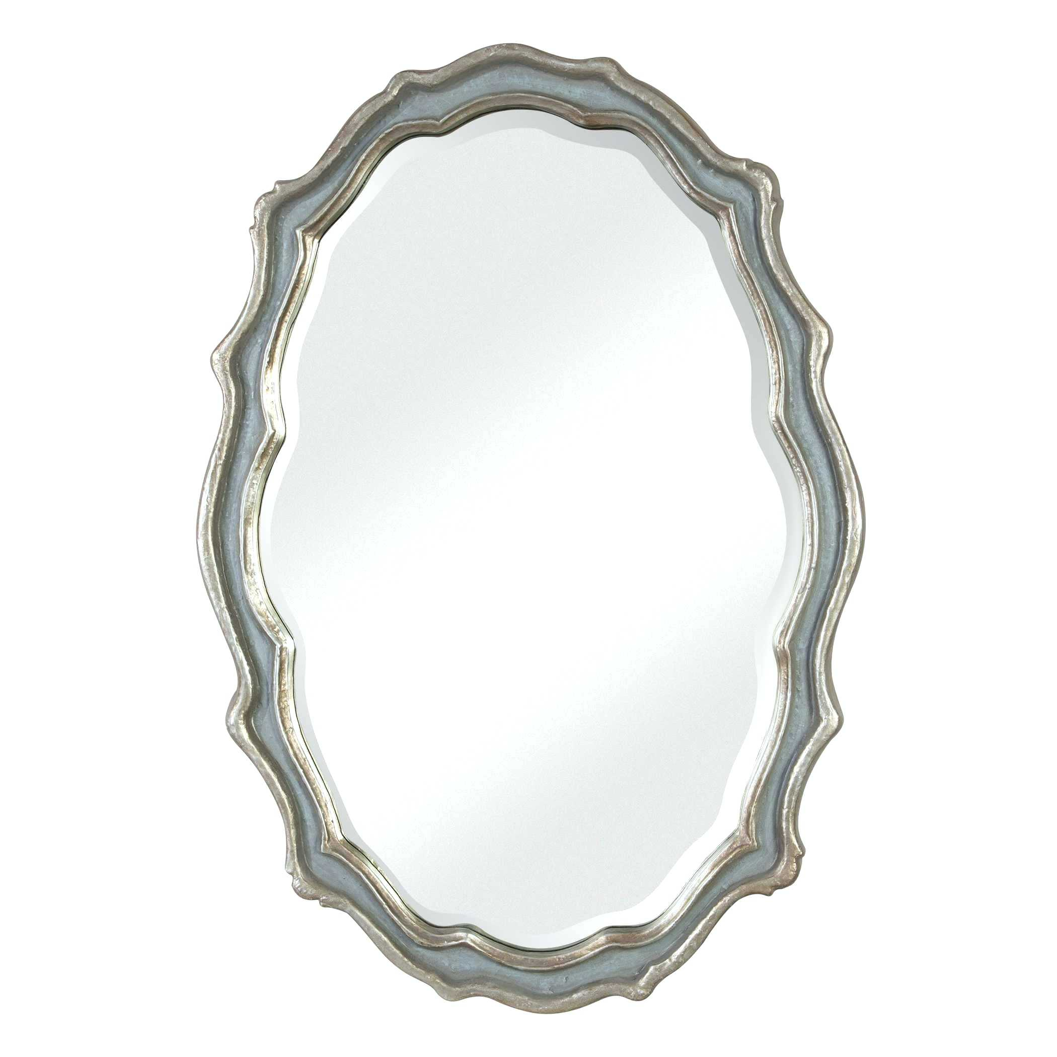 Black Oval Mirror Regarding Glen View Beaded Oval Traditional Accent Mirrors (View 20 of 20)
