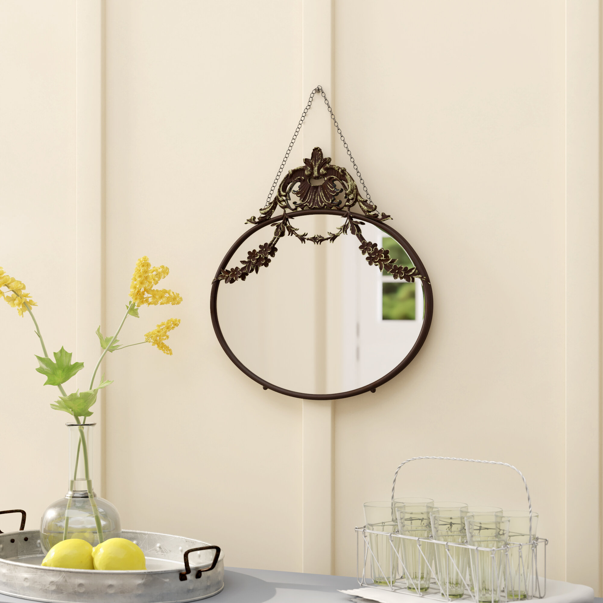 Black Small Mirrors You'll Love In 2019 | Wayfair In Knott Modern & Contemporary Accent Mirrors (Image 5 of 20)