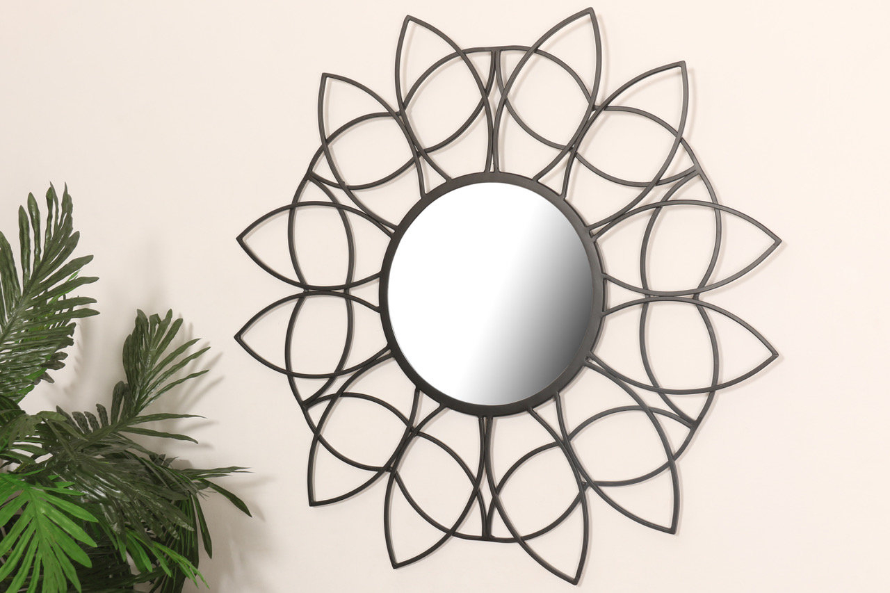 Black Sunburst Mirrors You'll Love In 2019 | Wayfair Intended For Bruckdale Decorative Flower Accent Mirrors (View 4 of 20)