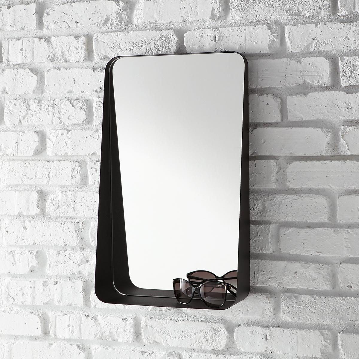 Black Vertical Arch Wall Mirror | The Container Store Inside Arch Vertical Wall Mirrors (Image 8 of 20)