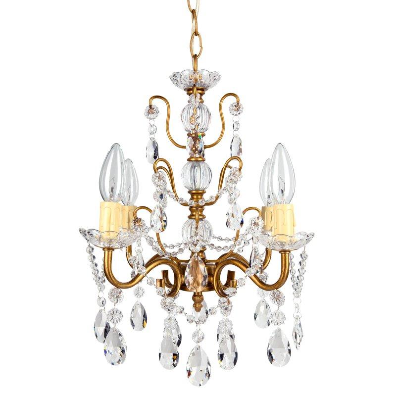 Blanchette 4 Light Candle Style Chandelier Regarding Oriana 4 Light Single Geometric Chandeliers (View 18 of 25)